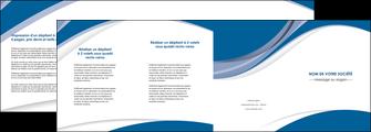 faire modele a imprimer depliant 4 volets  8 pages  texture contexture structure MIF50148