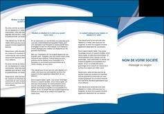 imprimerie depliant 3 volets  6 pages  texture contexture structure MIF50164