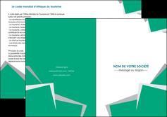 faire modele a imprimer depliant 2 volets  4 pages  texture contexture structure MLGI50204