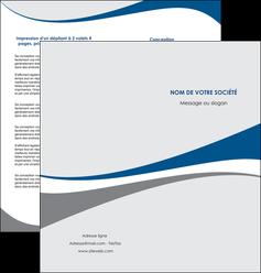 maquette en ligne a personnaliser depliant 2 volets  4 pages  texture contexture structure MLIG50490