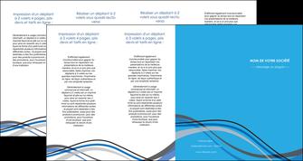 personnaliser maquette depliant 4 volets  8 pages  texture contexture structure MIF50568