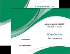 Commander Carte de visite double  Carte commerciale de fidélité modèle graphique pour devis d'imprimeur Carte de visite Double - Portrait