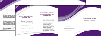 personnaliser modele de depliant 4 volets  8 pages  texture contexture structure MIF50788