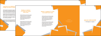 faire modele a imprimer depliant 4 volets  8 pages  texture contexture structure MIF50864
