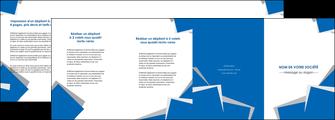 cree depliant 4 volets  8 pages  texture contexture structure MIF50916