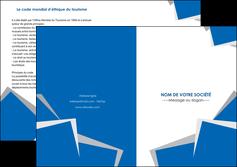 imprimer depliant 2 volets  4 pages  texture contexture structure MIF50920