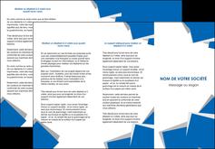 personnaliser modele de depliant 3 volets  6 pages  texture contexture structure MLGI50932
