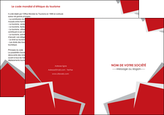 exemple depliant 2 volets  4 pages  texture contexture structure MLGI51022