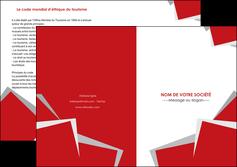exemple depliant 2 volets  4 pages  texture contexture structure MIF51022