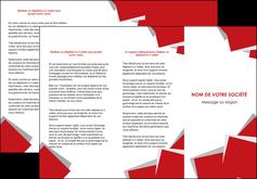 Commander Plaquette publicitaire  modèle graphique pour devis d'imprimeur Dépliant 6 pages pli accordéon DL - Portrait (10x21cm lorsque fermé)