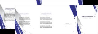 modele depliant 4 volets  8 pages  texture contexture structure MLGI51456