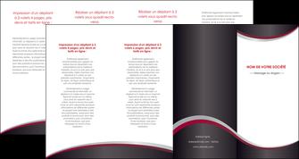 realiser depliant 4 volets  8 pages  texture contexture structure MIF51482