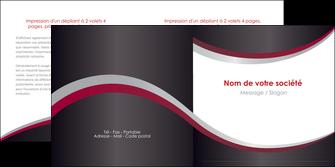maquette en ligne a personnaliser depliant 2 volets  4 pages  texture contexture structure MLIG51496