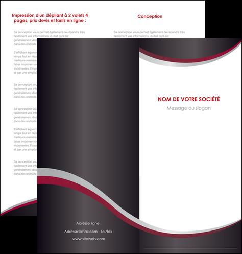 realiser depliant 2 volets  4 pages  texture contexture structure MIF51498