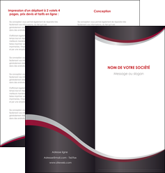 realiser depliant 2 volets  4 pages  texture contexture structure MLIG51498