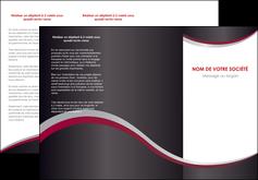 exemple depliant 3 volets  6 pages  texture contexture structure MLGI51500