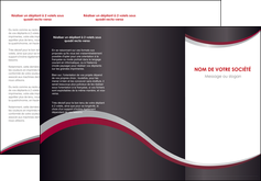 exemple depliant 3 volets  6 pages  texture contexture structure MIF51500