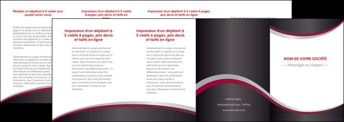 creer modele en ligne depliant 4 volets  8 pages  texture contexture structure MIF51530