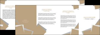 personnaliser modele de depliant 4 volets  8 pages  texture contexture structure MIF51538