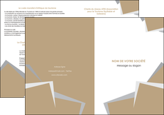 exemple depliant 2 volets  4 pages  texture contexture structure MLGI51540