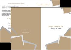 exemple depliant 2 volets  4 pages  texture contexture structure MIF51540