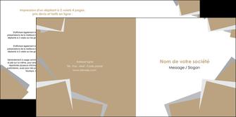 creer modele en ligne depliant 2 volets  4 pages  texture contexture structure MIF51550