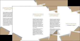 personnaliser modele de depliant 4 volets  8 pages  texture contexture structure MIF51582