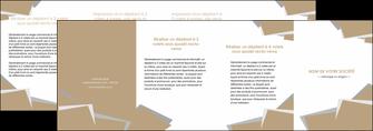 imprimerie depliant 4 volets  8 pages  texture contexture structure MIF51584