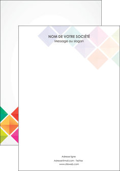 faire flyers arc en ciel cube colore MLGI51698
