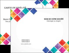 modele en ligne carte de visite arc en ciel cube colore MLIG51706