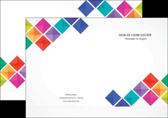 personnaliser modele de pochette a rabat arc en ciel cube colore MLGI51710