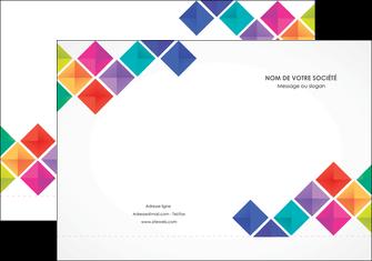 imprimer pochette a rabat arc en ciel cube colore MLGI51712