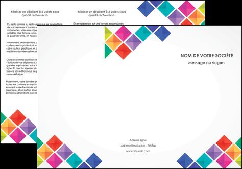 exemple depliant 3 volets  6 pages  arc en ciel cube colore MIS51724