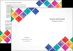 modele depliant 2 volets  4 pages  arc en ciel cube colore MLIG51738