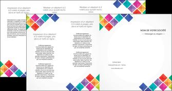 creer modele en ligne depliant 4 volets  8 pages  arc en ciel cube colore MLGI51744