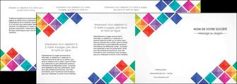 personnaliser modele de depliant 4 volets  8 pages  arc en ciel cube colore MLGI51746