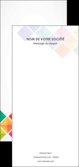 modele flyers arc en ciel cube colore MLIG51748