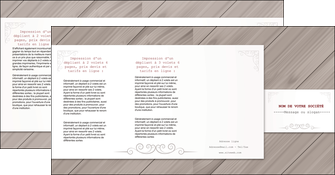 faire depliant 4 volets  8 pages  texture contexture structure MIF52606