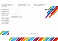 Impression depliant pour agence web  papier à prix discount et format Dépliant 6 pages Pli roulé DL - Portrait (10x21cm lorsque fermé)