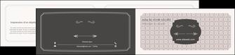 imprimerie depliant 2 volets  4 pages  texture contexture fond MLGI52982