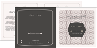 cree depliant 2 volets  4 pages  texture contexture fond MLGI52988