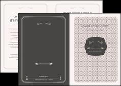 personnaliser maquette depliant 2 volets  4 pages  texture contexture fond MLGI53012