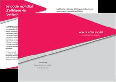 cree depliant 2 volets  4 pages  texture contexture structure MLGI53410