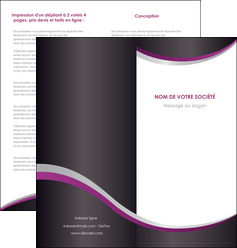 imprimerie depliant 2 volets  4 pages  texture contexture structure MIF53628