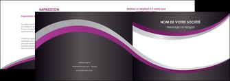 exemple depliant 2 volets  4 pages  texture contexture structure MIF53640