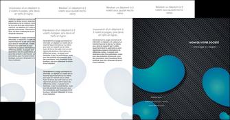 imprimerie depliant 4 volets  8 pages  texture contexture structure MIF53710