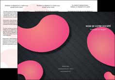 exemple depliant 3 volets  6 pages  texture contexture structure MIF53744