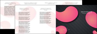 realiser depliant 4 volets  8 pages  texture contexture structure MLGI53760