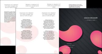 personnaliser maquette depliant 4 volets  8 pages  texture contexture structure MLGI53764