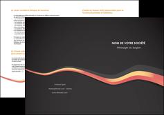 creer modele en ligne depliant 2 volets  4 pages  texture contexture structure MIF53810